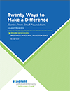 Twenty Ways to Make a Difference: Stories From Small Foundations